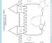 Coloriage et dessins gratuit Château de Sable à compléter à imprimer