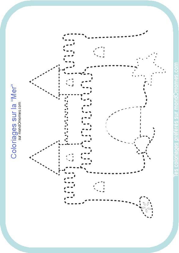 Coloriage et dessins gratuits Château de Sable à compléter à imprimer