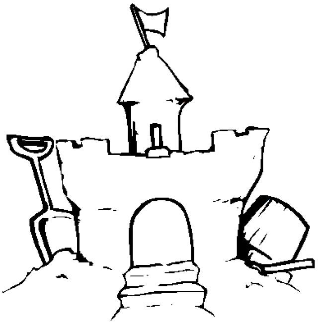Coloriage et dessins gratuits Château de Sable bien fait à imprimer