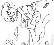 Coloriage et dessins gratuit Château de Sable en construction à imprimer
