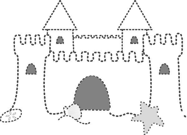 Coloriage et dessins gratuits Château de Sable en points à imprimer