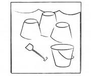 Coloriage et dessins gratuit Château de Sable en vacance à imprimer