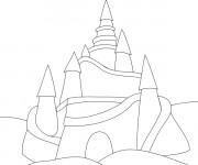 Coloriage et dessins gratuit Château de Sable facile à imprimer