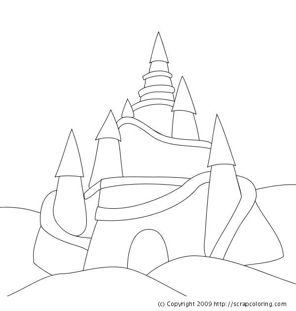 Coloriage et dessins gratuits Château de Sable facile à imprimer