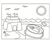 Coloriage et dessins gratuit Château de Sable pour enfant à imprimer