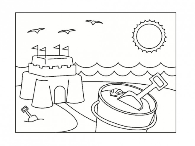 Coloriage et dessins gratuits Château de Sable pour enfant à imprimer