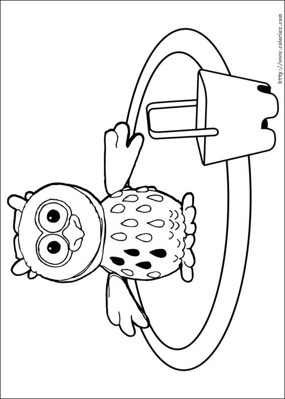 Coloriage et dessins gratuits Hibou en vacance à imprimer