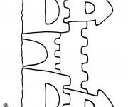 Coloriage et dessins gratuit Un beau Château de Sable à imprimer