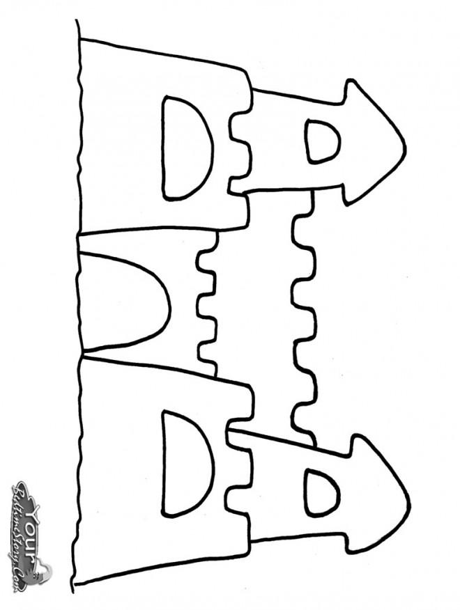 Coloriage et dessins gratuits Un beau Château de Sable à imprimer