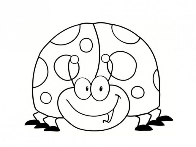 Dessin Coccinelle Rigolote coloriage coccinelle rigolote pour enfant dessin gratuit à imprimer