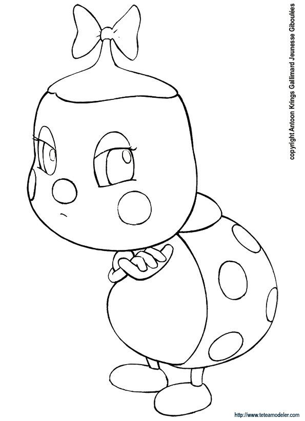 Coloriage coccinelle triste dessin gratuit imprimer - Dessin coccinelle facile ...