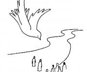 Coloriage et dessins gratuit Baptême Colombe à imprimer