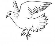 Coloriage et dessins gratuit Belle Colombe en vol à imprimer