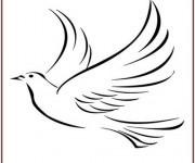 Coloriage colombe 17 dessin gratuit imprimer - Colombe coloriage ...