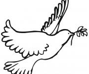 Coloriage colombe gratuit imprimer liste 20 40 - Colombe coloriage ...