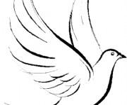 Coloriage colombe gratuit imprimer liste 20 40 - Colombe a colorier ...