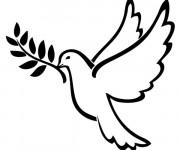 Coloriage et dessins gratuit Colombe de La Paix à imprimer