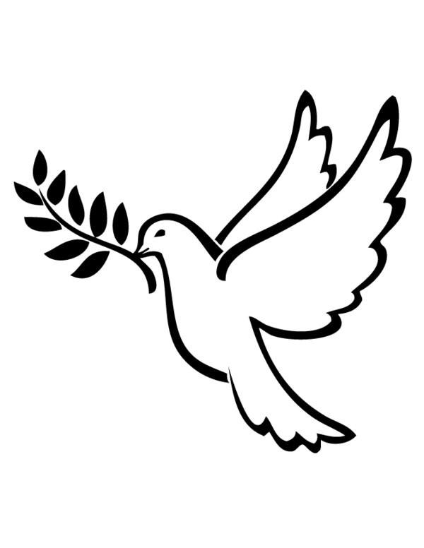 Coloriage colombe de la paix dessin gratuit imprimer - Coloriage colombe ...