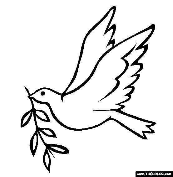 Coloriage et dessins gratuits Colombe de la Paix maternelle à imprimer