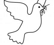 Coloriage et dessins gratuit Colombe de Paix à imprimer