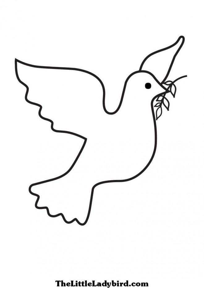 Coloriage colombe de paix dessin gratuit imprimer - Coloriage colombe ...