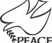 Coloriage Colombe De Paix Logo