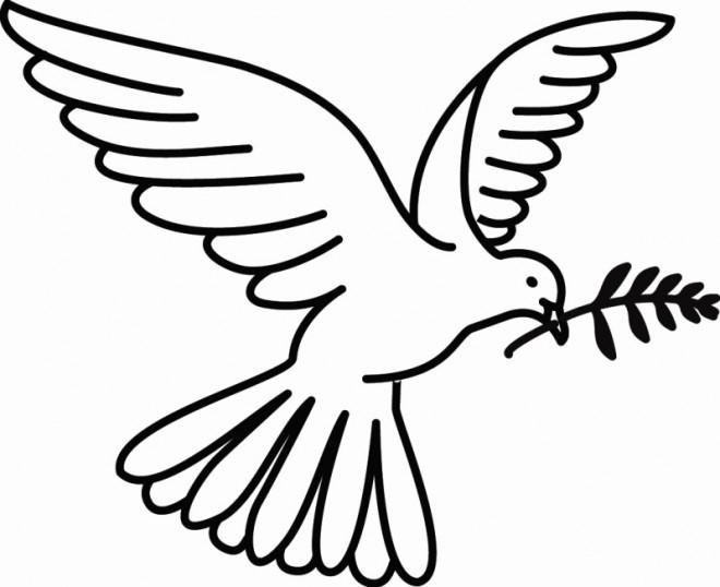 Coloriage et dessins gratuits Colombe et Paix à imprimer
