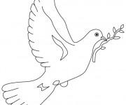Coloriage colombe pour la paix dessin gratuit imprimer - Coloriage colombe ...