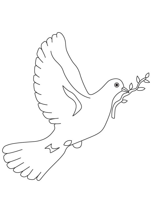 Coloriage colombe pour la paix dessin gratuit imprimer - Dessin colombe gratuit ...