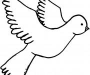 Coloriage et dessins gratuit Colombe qui vole à imprimer