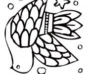 Coloriage et dessins gratuit Colombe royale à imprimer
