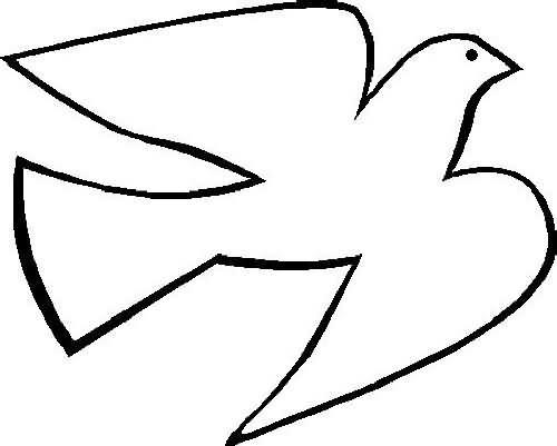 Coloriage colombe stylis dessin gratuit imprimer - Coloriage colombe ...