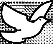 Coloriage et dessins gratuit Colombe vecteur en vol à imprimer