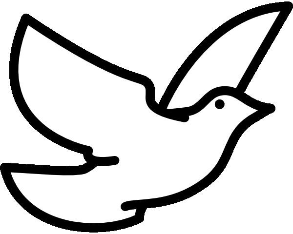 Coloriage et dessins gratuits Colombe vecteur en vol à imprimer