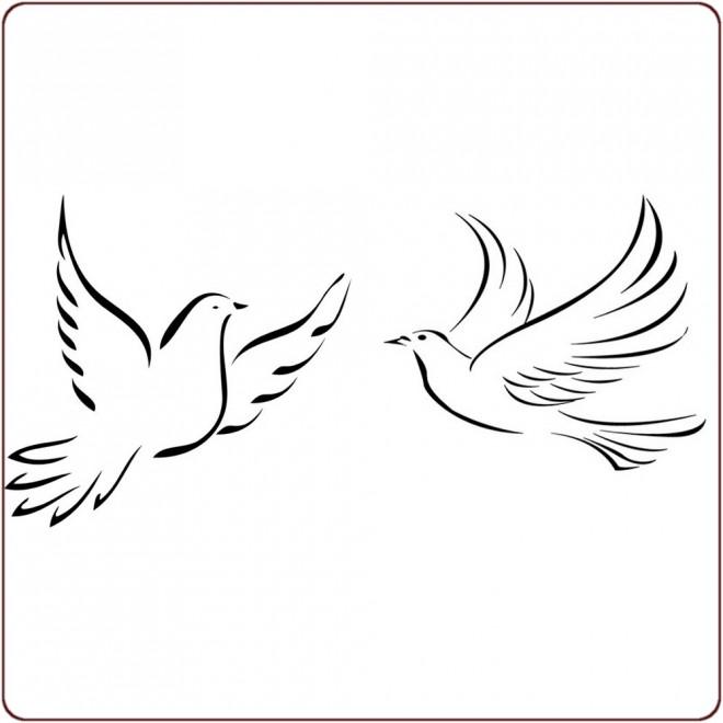 Coloriage colombes stylis s vecteur dessin gratuit imprimer - Coloriage colombe ...