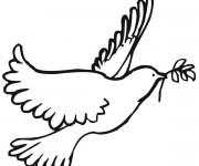 Coloriage et dessins gratuit Paix et Colombe à imprimer