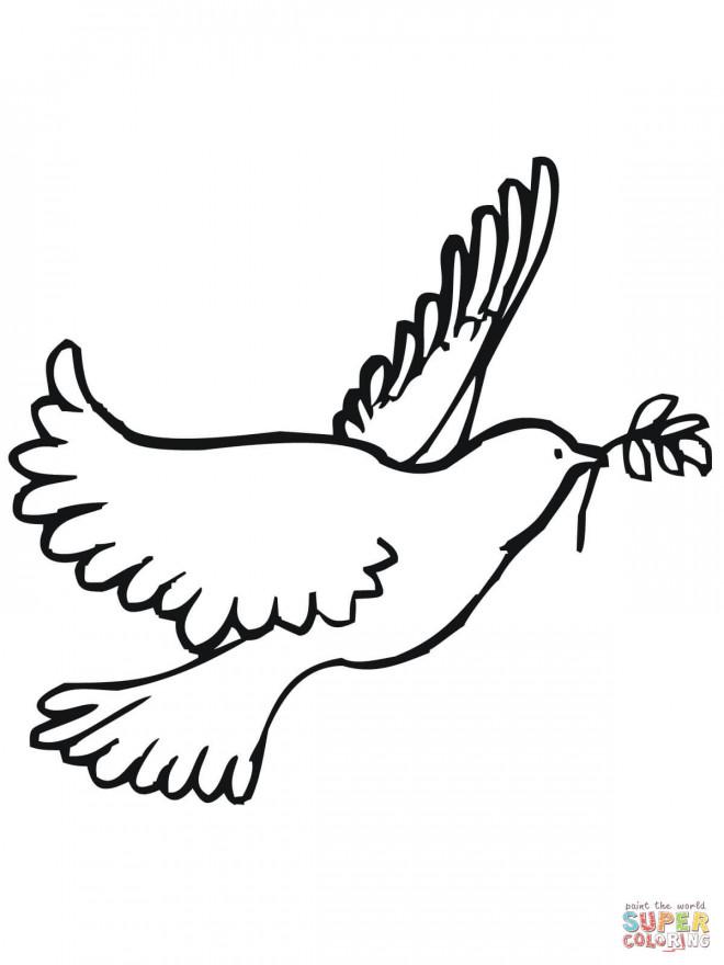 Coloriage paix et colombe dessin gratuit imprimer - Colombe a colorier ...