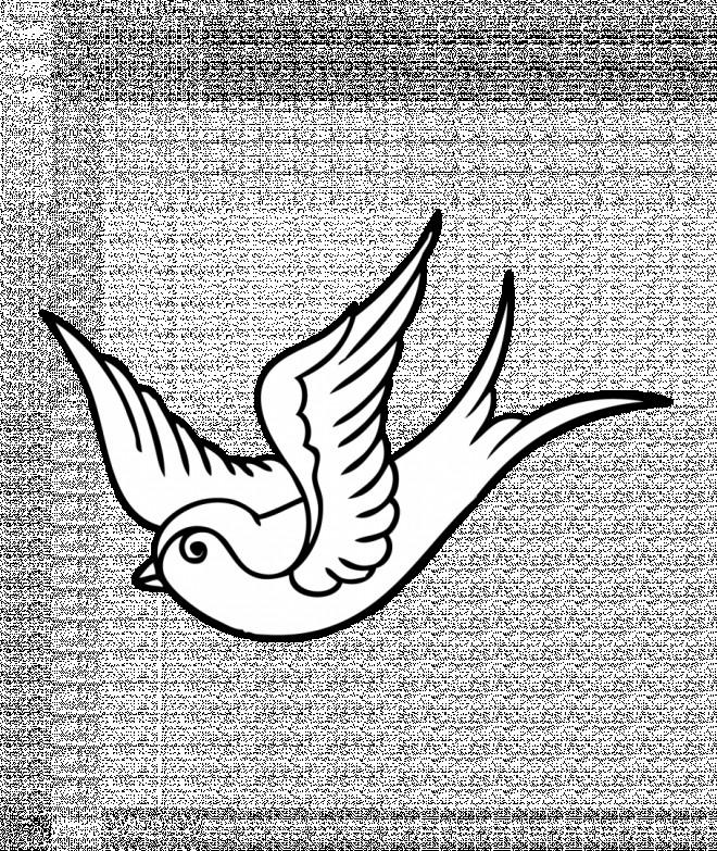 Coloriage et dessins gratuits Petite Colombe en L'air à imprimer