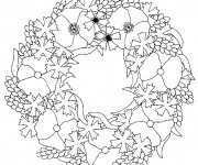 Coloriage Coquelicot mandala
