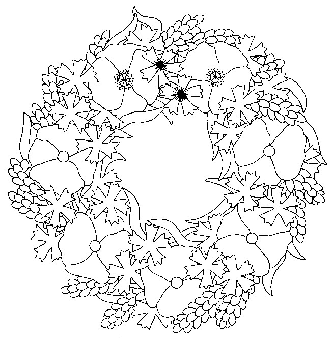 Coloriage coquelicot mandala dessin gratuit imprimer - Coloriage tahiti ...