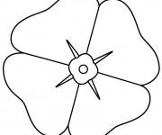 Coloriage et dessins gratuit Coquelicot Pétales à imprimer