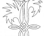 Coloriage Coquelicot symbole