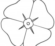 Coloriage Fleur simple de Coquelicot