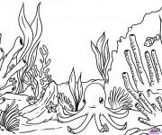 Coloriage dessin  Corail 3