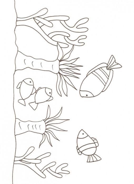 Coloriage Corail simple dessin gratuit à imprimer
