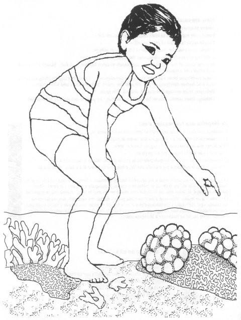 Coloriage et dessins gratuits Petit enfant et Corail à imprimer