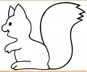 Coloriage et dessins gratuit Ecureuil 14 à imprimer