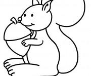 Coloriage et dessins gratuit Ecureuil 26 à imprimer