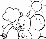 Coloriage et dessins gratuit Ecureuil 28 à imprimer