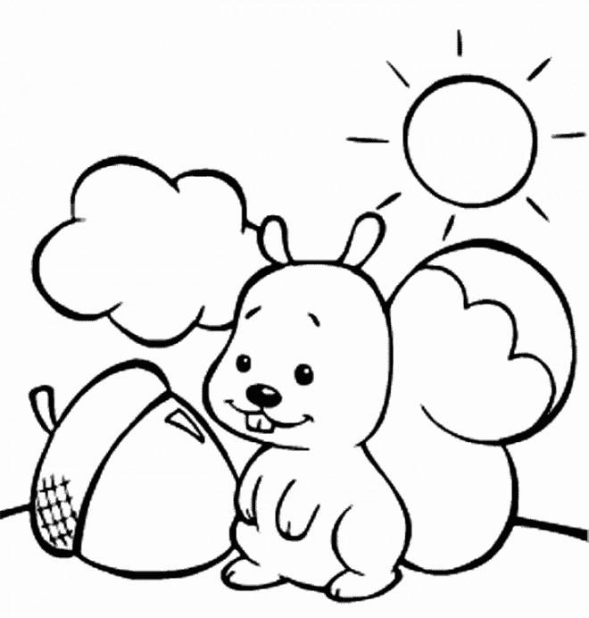 Coloriage et dessins gratuits Ecureuil 28 à imprimer